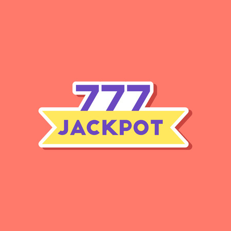 paper sticker on stylish background of jackpot Lucky seven