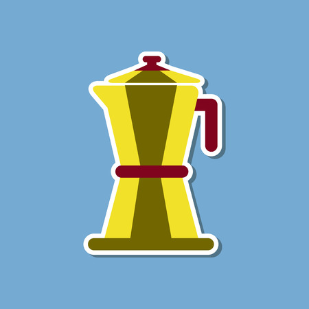 roasted: paper sticker on stylish background of coffee machine maker