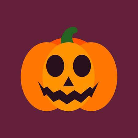 flat icon stylish background halloween pumpkin Иллюстрация