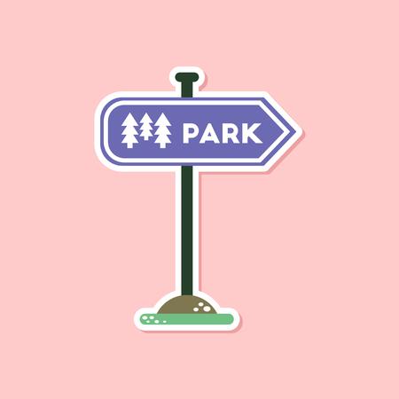 paper sticker on stylish background park sign Ilustração