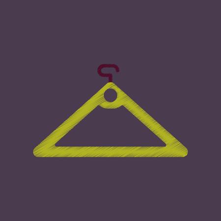 hangers: flat shading style icon hanger