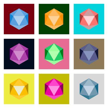 biohazard: icons set in flat style virus Illustration