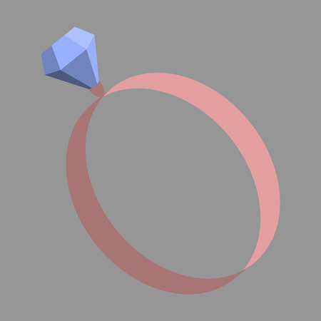 expensive: Icon in flat design fashion engagement ring Illustration