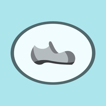 Icon in flat design fashion footwear Man shoe