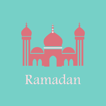 Icon in a flat style Ramadan mosque Illustration