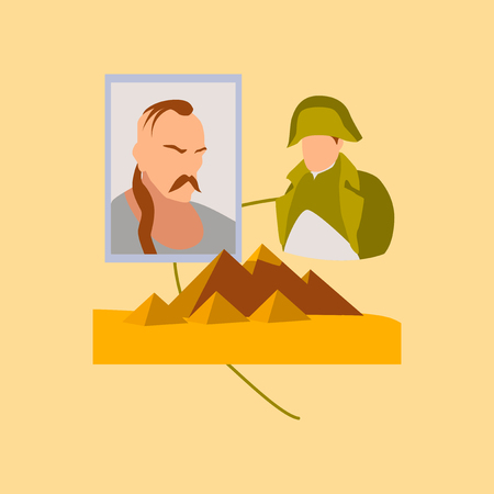 flat icon on stylish background History Lesson pyramid