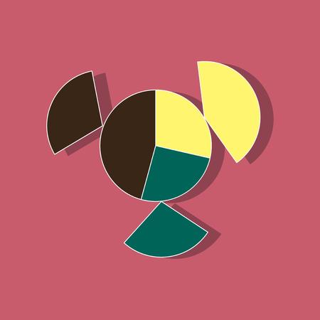 dashboard: paper sticker on stylish background Circular economic chart