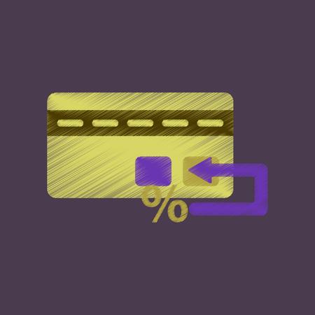 electronic commerce: flat shading style icon bank card
