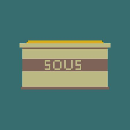 pixel icon in flat style sauce