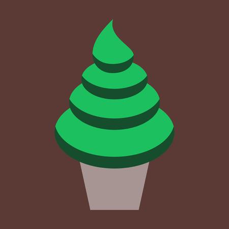 Sweet dessert in flat design Ice cream cone