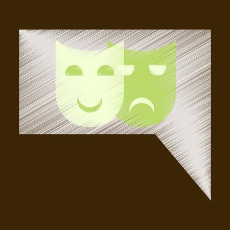 film industry: Flat Icon in Shading Style film mask Illustration