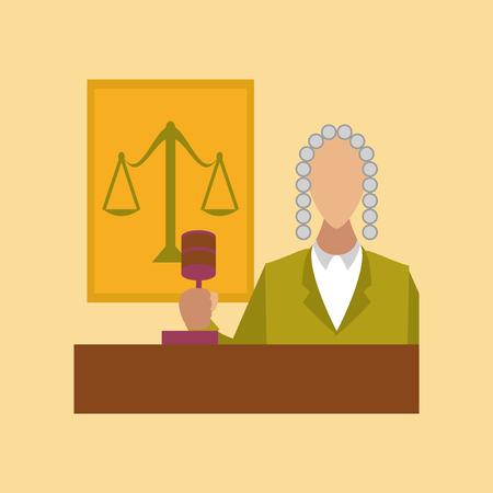 civil rights: flat icon on stylish background education jurisdiction judge