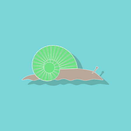 paper sticker on background of snail