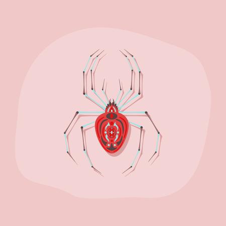 papieren sticker op stijlvolle achtergrond halloween spider