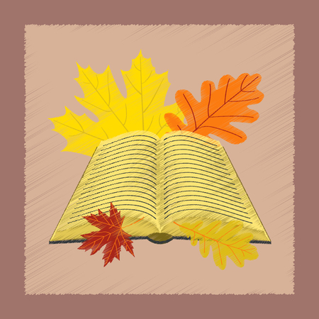 flat shading style icon open book leaves
