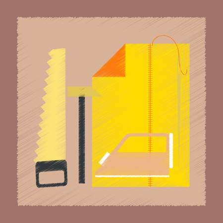 school class: flat shading style icon work lesson