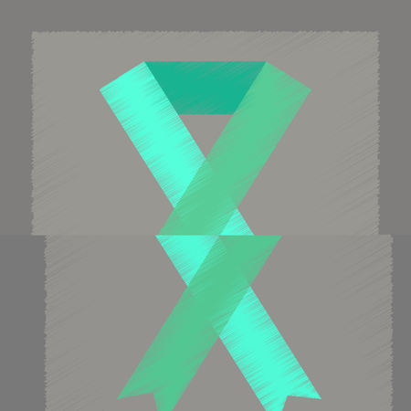 flat shading style icon gay HIV ribbon