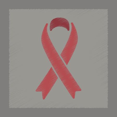 flat shading style icon gay HIV ribbon