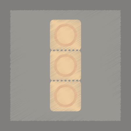 flat shading style icon condom contraceptive