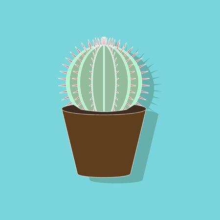 paper sticker on stylish background plant Cactoideae