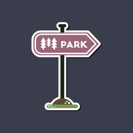Papier sticker op stijlvolle achtergrond park teken Stock Illustratie