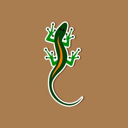Autocollant en papier sur fond élégant Reptile lézard Banque d'images - 84085020