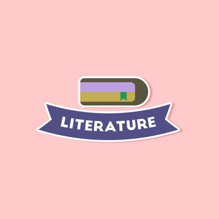 poems: paper sticker on stylish background Literature lesson