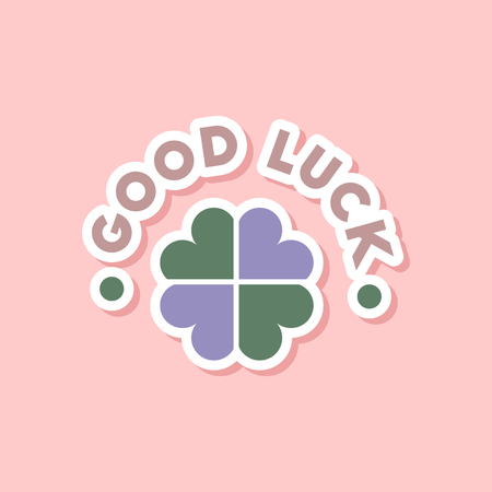luckiness: paper sticker on stylish background of good luck logo