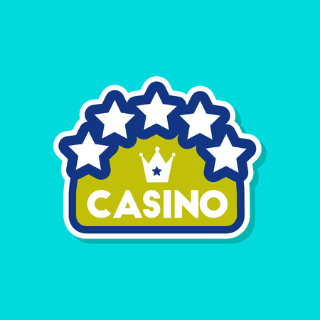 paper sticker on stylish background of casino sign Illustration