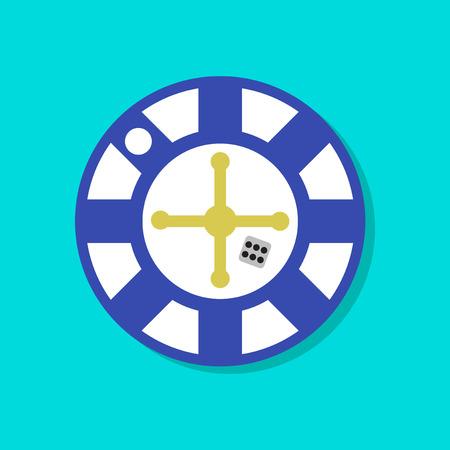 original single: paper sticker on stylish background of roulette casino Illustration