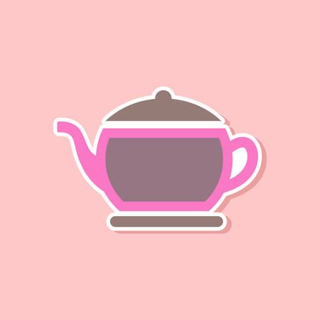 paper sticker on stylish background of coffee maker Illustration
