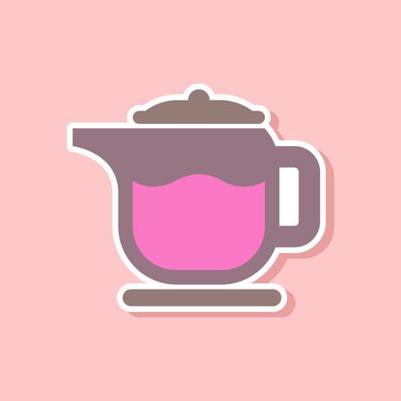 paper sticker on stylish background of coffee maker Illustration
