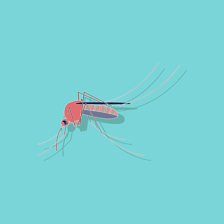 paper sticker on stylish background of mosquito