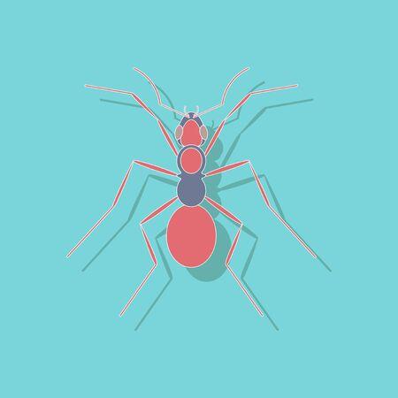 paper sticker on stylish background of ant Illustration