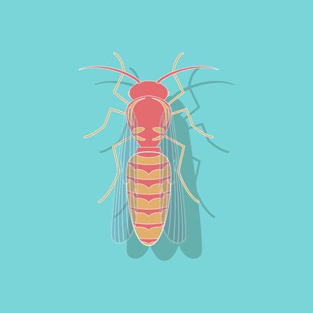 paper sticker on stylish background of wasp