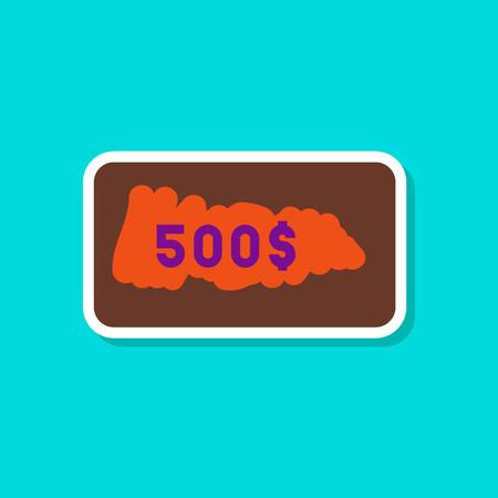 세련 된 배경에 종이 스티커 스크래치 카드 스톡 콘텐츠 - 84207234