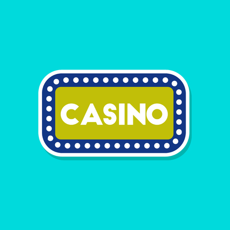 hollywood star: paper sticker on stylish background casino sign