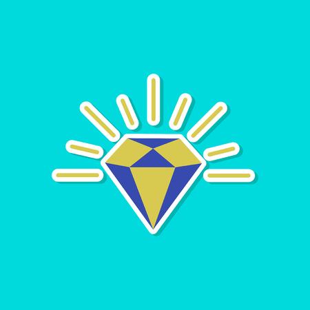 paper sticker on stylish background diamond