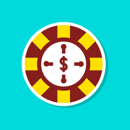paper sticker on stylish background roulette casino