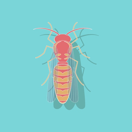 paper sticker on background of wasp