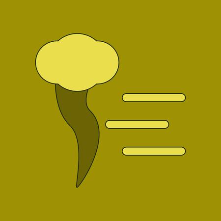 flat icon on background tornado Illustration