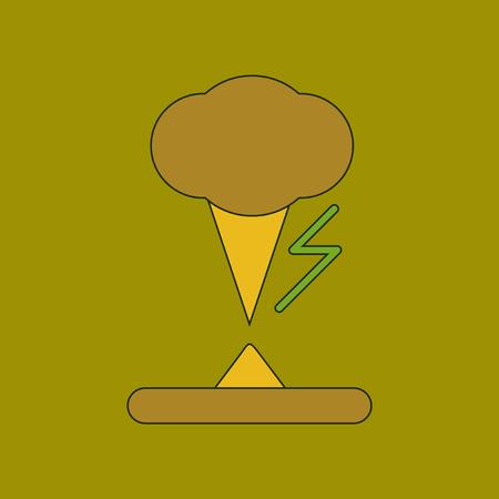 flat icon stylish background natural disaster tornado Illustration