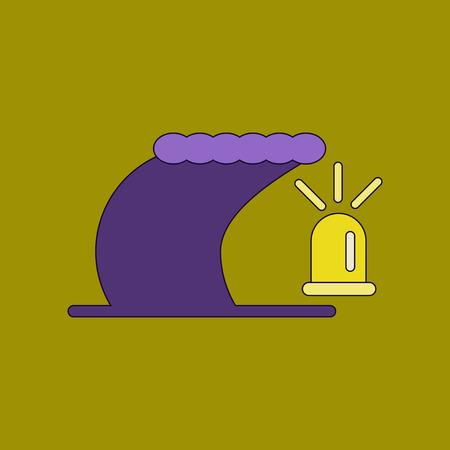 flat icon stylish background tornado alarm lamp Illustration