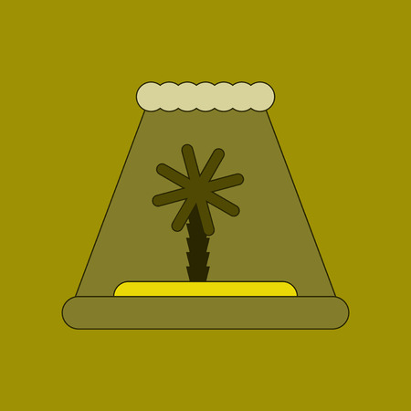 flat icon on background tsunami Island