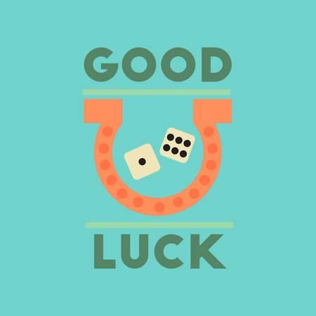 luckiness: flat icon on stylish background poker good luck