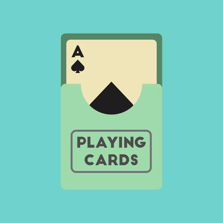 flat icon on stylish background playing cards