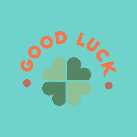 flat icon on stylish background good luck clover