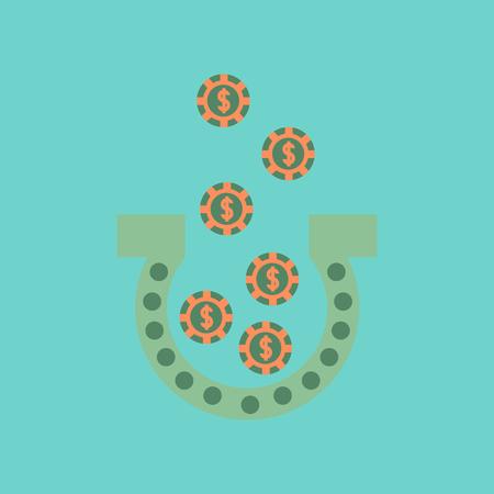 flat icon on stylish background good luck logo