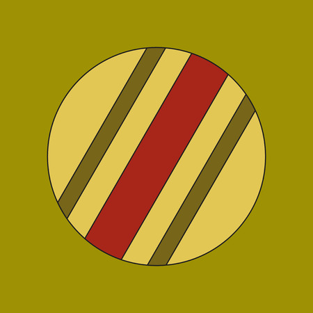 flat icon on background Kids toy ball