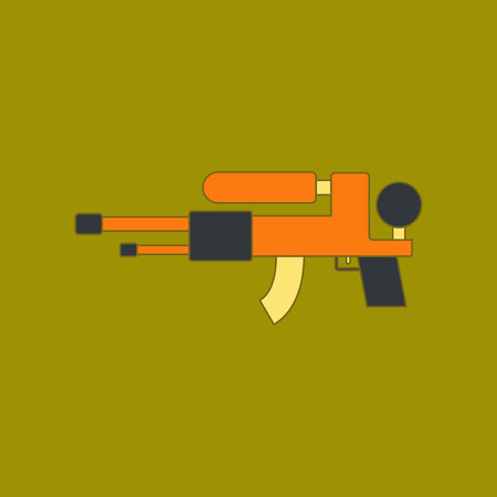 flat icon on background Kids toy water gun